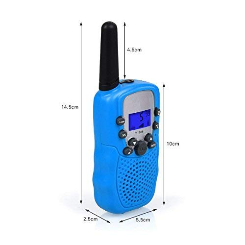 ISCOOL Walkie Talkies for Kids Long Range Two Way Radio Kids Walkie Talkies 22 Channel Outdoor Toys for Girls and Boys(2 PCS ,Blue by iscool (Image #2)