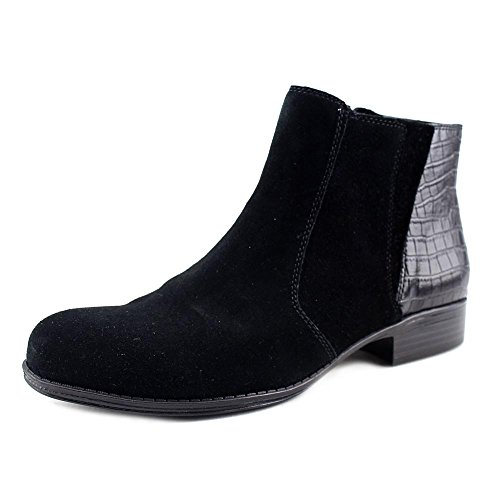 ump Leather Closed Toe Ankle Fashion Boots Black Suede Size 8.0 M US ()