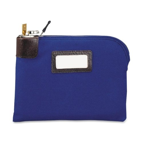 Wholesale CASE of 10 - MMF Industries Currency Bags w/ Built-in Locks-Lock Bag, Name Tag Holder, Navy Duck, 11