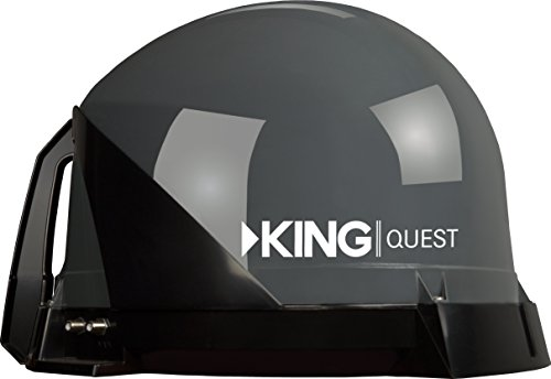 KING VQ4100 Quest Portable/Roof Mountable Satellite TV Antenna (for use with DIRECTV)