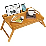 LapGear Media Bed Tray with Phone Holder - Natural Bamboo - Fits up to 17.3 Inch Laptops and Most Tablets - Style No. 78107