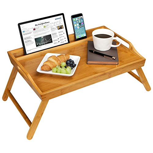 LapGear Media Bed Tray with Phone Holder - Natural Bamboo - Fits up to 17.3 Inch Laptops and Most Tablets - Style No. 78107 (Bamboo Sofa Online)