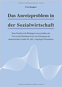 Book Das Anreizproblem in der Sozialwirtschaft
