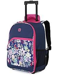 SwissGear Girls Floral Backpack Rolling Duffel, Print, One Size