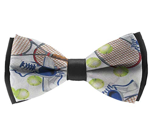 L Wright-King Men's Pre Tied Bow Ties for Wedding Party Crazy Tennis Adjustable Bowties