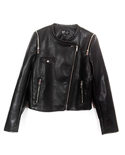 Zara Women Faux Leather Jacket With Zips 3427/042 (Large) for sale  Delivered anywhere in USA