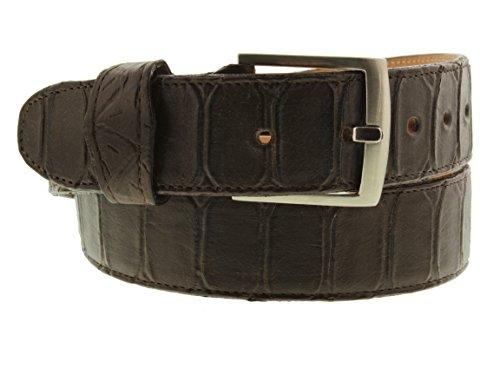 - EL PRESIDENTE Cowboy Professional- Mens Brown Anaconda Print Leather Cowboy Belt Silver Buckle 36