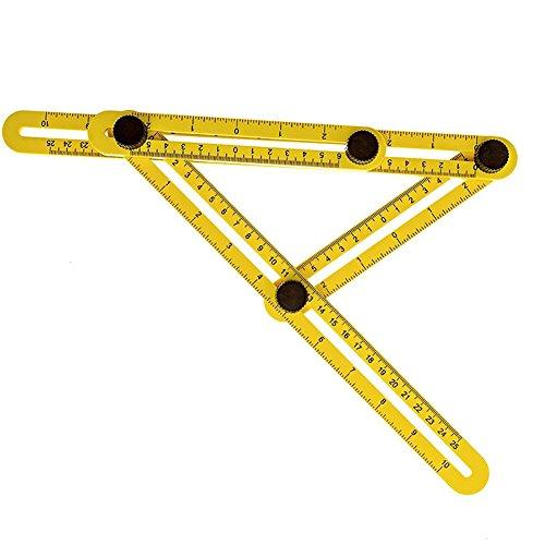 [해외]Homedeco Angle-izer 템플릿 툴은 모든 각도와 형태를 측정합니다. 인공 구멍, 빌더, 공예가를위한 각도 각도 템플릿 툴/Homedeco Angle-izer Template Tool Measures All