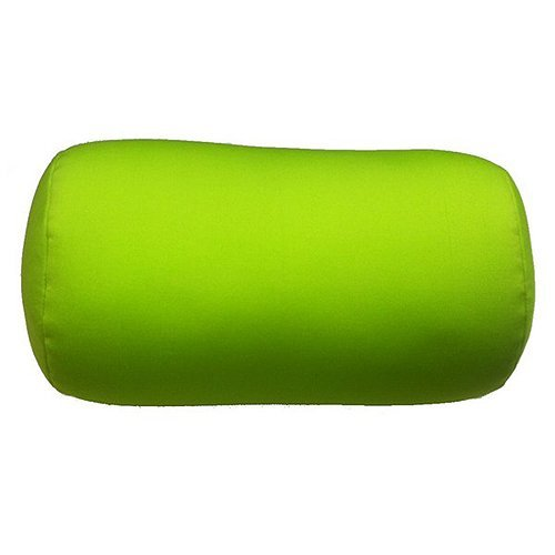 Cushie Pillows 7 inches x 12 inches Microbead Bolster Squishy/Flexible/Extremely Comfortable Roll Pillow - Lime