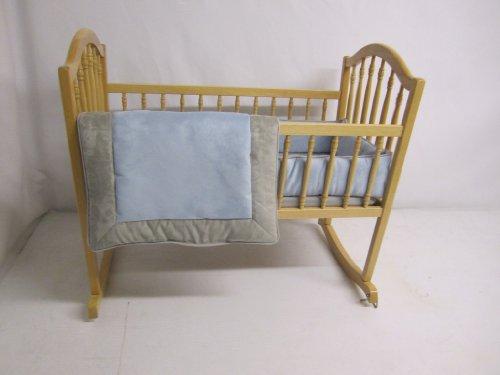 Baby Doll Bedding Zuma Cradle Bedding Set, Grey/Blue by BabyDoll Bedding