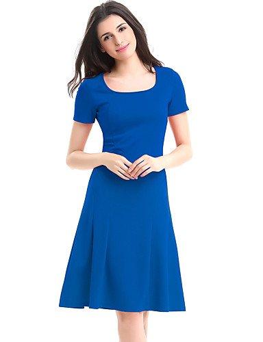 Mujer Línea Vestido Fiesta Blue Un De JIALE3536 Vestido Size Plus La Fiesta De Mujer w7Sd4