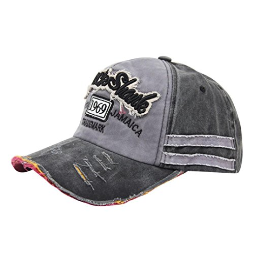 Clearance Men Women Casual Embroidered Cotton Demin Hats Bas