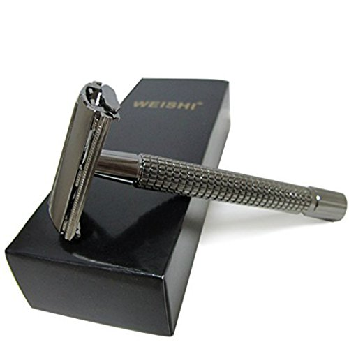 Long Handle Butterfly Version That Opens with Double Edge Safety Razor (Free Razor Included)