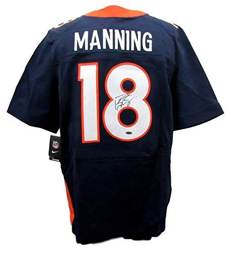 (Peyton Manning Denver Broncos Signed Nike On Field Blue Jersey Steiner 141058)