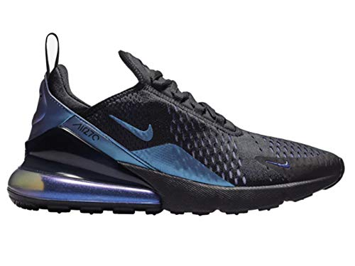 Nike Men's Air Max 270 Black/Laser Fuchsia/Regency Purple Mesh Running Shoes 11.5 M US