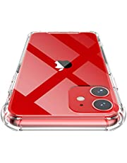 Shamo's iPhone 11 Case, Crystal Clear Anti-Scratch Shock Absorption Cover, TPU Bumper with Reinforced Corners