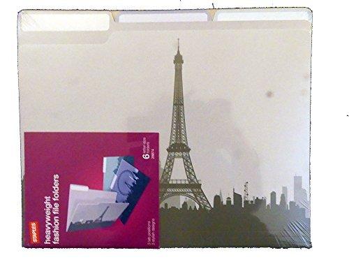 (Cityscapes Heavyweight Fashion File Folders Paris London Rome)