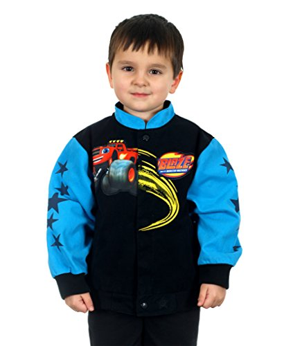 Kids Blaze and The Monster Machines Jacket (2T, Black & Blue)