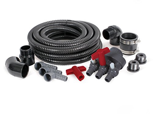 Atlantic Water Gardens FBKIT3 Fountain Basin Plumbing Kit, Triple Valve ()