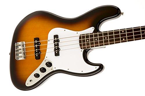 Squier by Fender Affinity Jazz Beginner Electric Bass Guitar - Rosewood Fretboard, Brown Sunburst by Squier (Image #3)