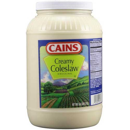 Cains Creamy Coleslaw Dressing, 1 Gallon -- 4 per case. by Cains