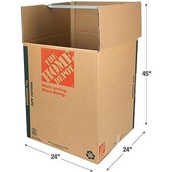 The Home Depot 65 Lb. Tall Wardrobe Box