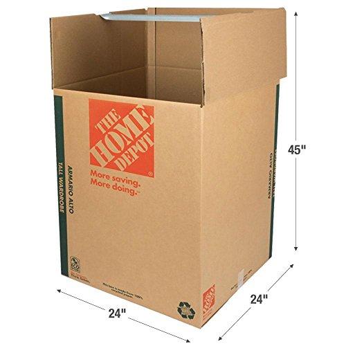 The Home Depot 65 lb. Tall Wardrobe Box -
