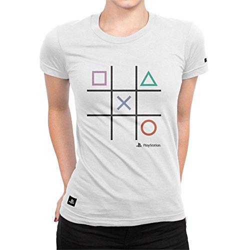 Camiseta Playstation Feminina Play All Time - Branco - Gg