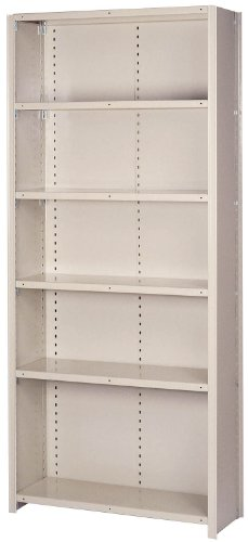 Lyon DD8260SX 8000 Series Closed Shelving Starter with 6 Extra Heavy Duty Shelves, 36