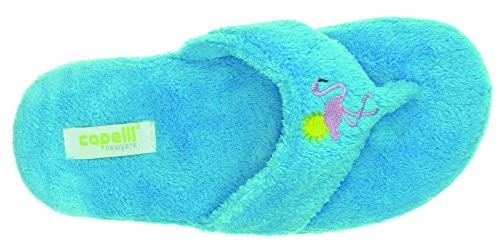 Capelli New York Dames Flamingo En Zon Ontwerp Indoor Slippers Turquoise