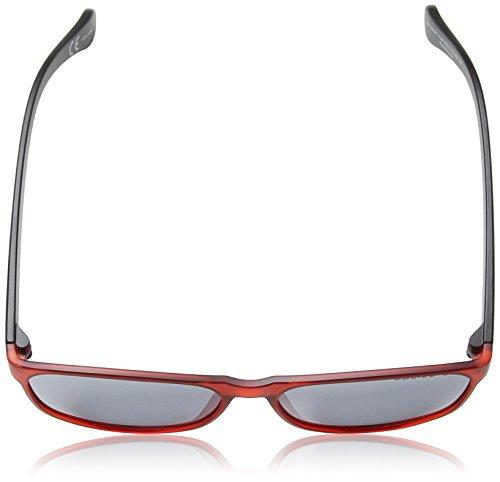 Police de Black Gafas amp; Mirror sol Lens Frame S1986 Red 1 Transparent Wayfarer Trick Shiny Smoke qfq4Br