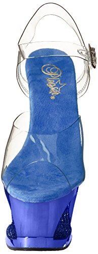 Pleaser - Sandalias mujer - Clear/R.Blue