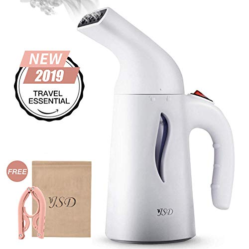 JSD Steamer for Clothes, 7 in 1 Travel Garment Steamers, 150ml Powerful Handheld Fabric Steamer with High Capacity for Home and Travel, Travel Pouch Included [Updated Version] ()