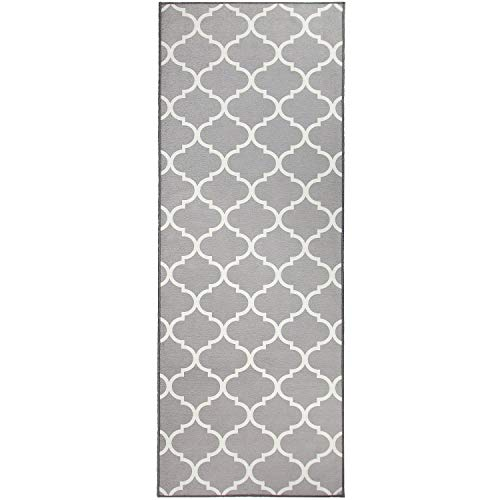 RUGGABLE Washable Stain Resistant Indoor/Outdoor, Kids, Pets, and Dog Friendly Runner Rug 2.5'x7' Moroccan Trellis Light - Light Stain Resistant