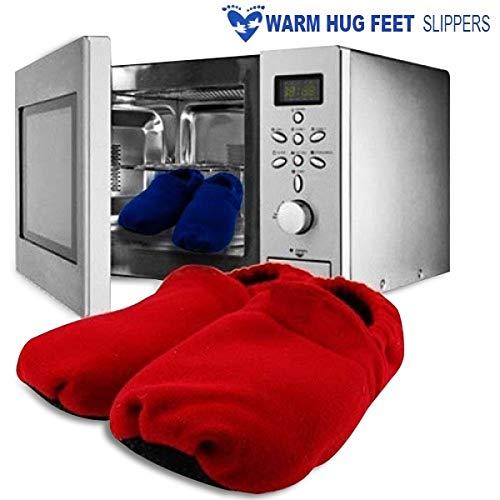 Zapatillas con calefacción para ir en el microondas Rojo: Amazon ...