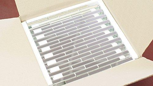 ,Backsplash, Long Brick Mirror Mosaic Tiles on mesh 13.3