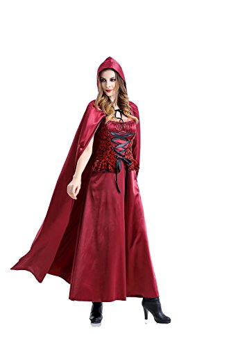 Ailisen New Fashion Halloween Witch Vampire Queen Costume Adult Women Fantasy Costume Ladies Little Red Riding Hood Costume