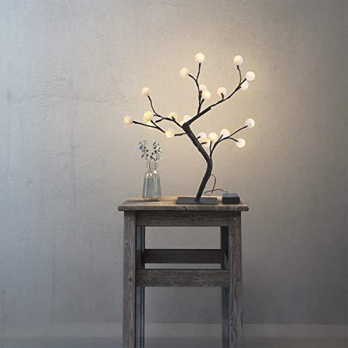 LED Deko Baum Lunartec LED B/äumchen: LED-Baum mit 64 beleuchteten Bl/üten f/ür innen /& au/ßen IP44 45 cm