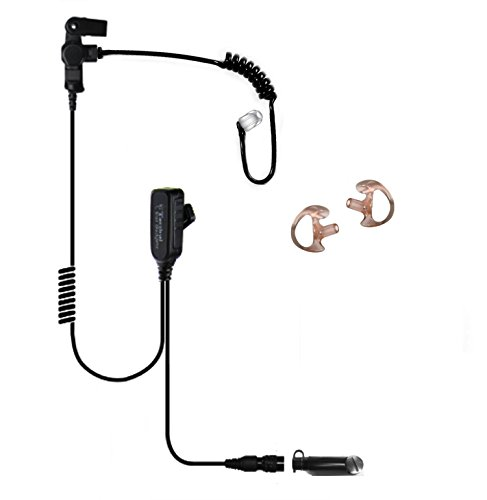 Tactical Ear Gadgets EP1355UQR Hawk Lapel Mic with Quick Release for Harris Unity XG-100P by Tactical Ear Gadgets