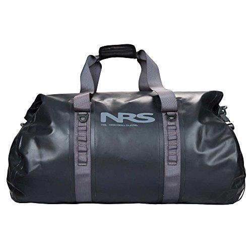 NRS High Roll Duffel Dry Bag, 70L Flint Black One Size by NRS