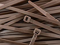 8 Inch Brown Standard Nylon Cable Tie 100pk