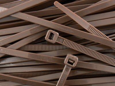 8 Inch Brown Standard Nylon Cable Tie 100pk