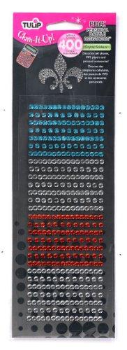 Tulip-Glam-It-Up PDA: Personal Dazzle Assistance 400ct-Aqua Orange Aqua Tulip Garden