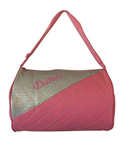 Girls Dance Duffle Bag Pink with Adjustable Shoulder Strap For Sale