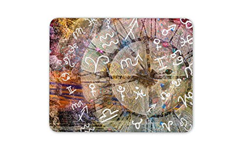 (Astrology Pagan Sundial Mouse Mat Pad - Horoscope Star Sign Computer Gift #14666)