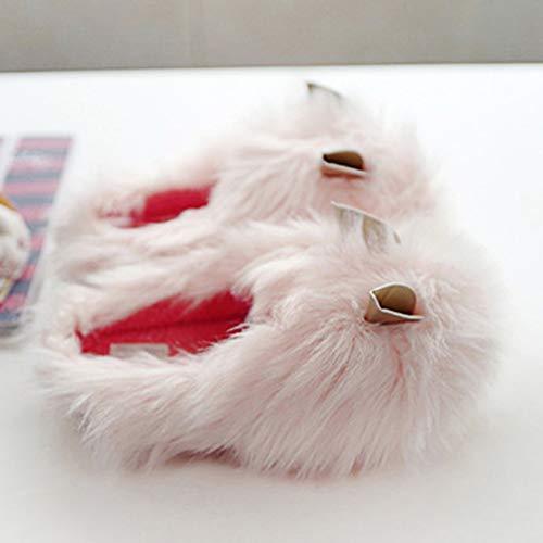 Carine Per Donna Simpatico Pink 16 Scarpe Pantofole Animato Cartone Invernali Antiscivolo Minetom Animali Orecchie Cotone Casa La Outdoor Da Di Pantofola Indoor Rvw1d6dxnq