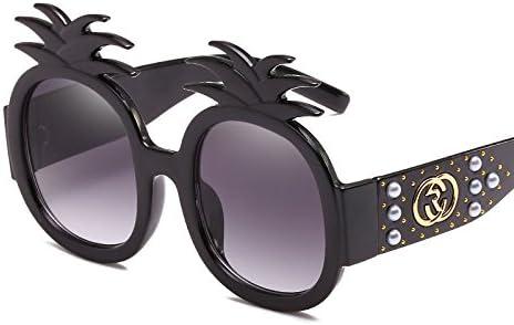 Z&YQ Gafas De Sol De Mujer Pearl Rivets Pineapple Caja ...