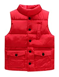 LUXING Kids Waterproof Down Vest Baby Lightweight Soft Polyester Waistcoat Outwear
