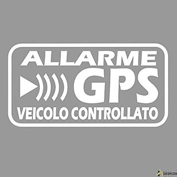 StickersLab - Adhesivos de alarma GPS antirrobo satelitar para evitar robos de coches, motos, camiones, caravanas. 4 unidades (12 x 6 cm): Amazon.es: Coche ...