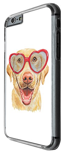 954 - Cool cute fun labrador dog funny heart glasses love pet illustration doodle art kawaii Design For iphone 5C Fashion Trend CASE Back COVER Plastic&Thin Metal -Clear